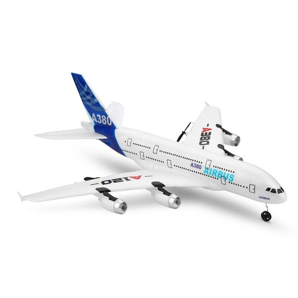 top popular A120-A380 Airbus 2.4GHz 3CH RC Airplane Fixed Wing Drone Aeromodelling Remote Control Aircraft Six-axis Flight Toys 201103 2021