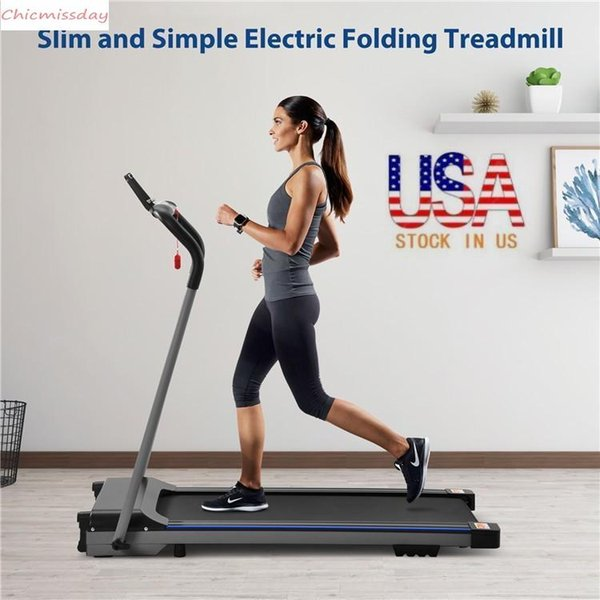 US STOCK Simple Walking Electric Treadmill For Home Use Factory Price High Quality Sports Machine Equipment W21506040