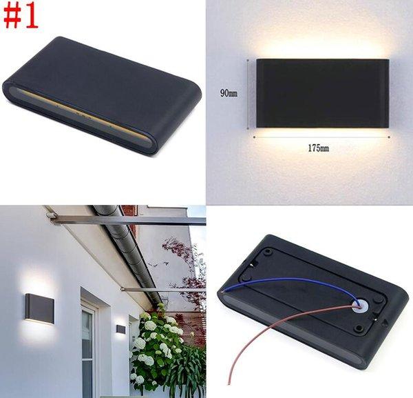 # 1 12W Водонепроницаемый настенный светильник