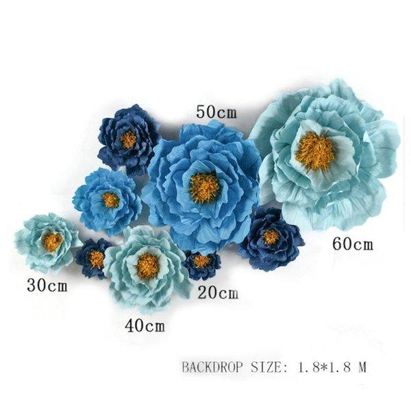 مزيج الأزرق 9PCS.