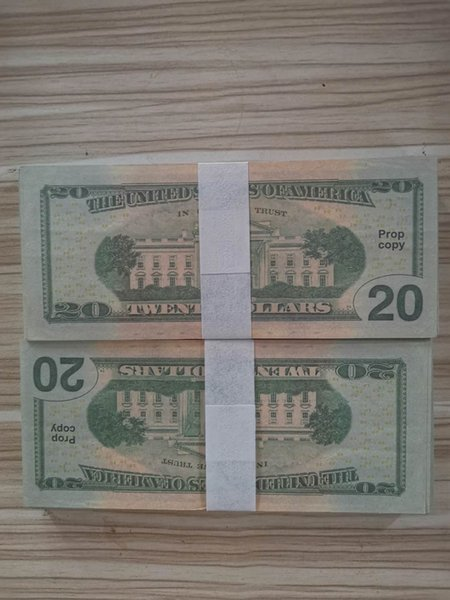 top popular Best Prop Copy Fake Money Kids Learning Tool Toys for Films Video 20 50 100 dollars bar prop Without hologram 2021