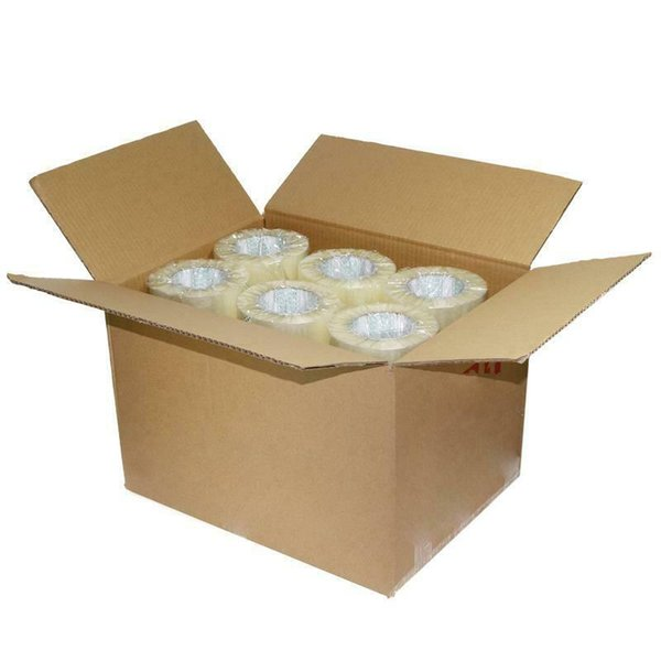 "top popular 18 Rolls Shipping Packaging Packing Box Sealing Tape 2 mil 1.9"" x 110 Yard 330FT 2021"