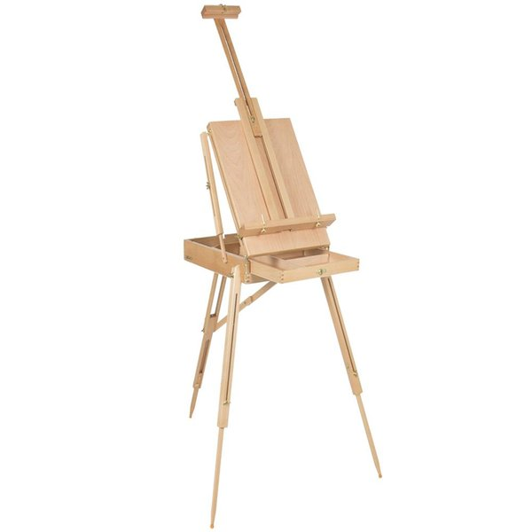 top popular NEW French Easel Sketch Box Portable Tripod Display Art&Craft Artist Studio Painting 2021