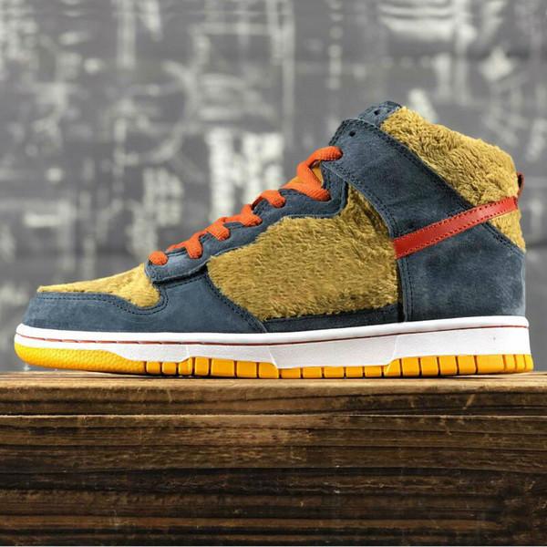 top popular High men leather velvet sneakers apa Bear trainers outdoor sport shoe Brown mens running shoes 2021