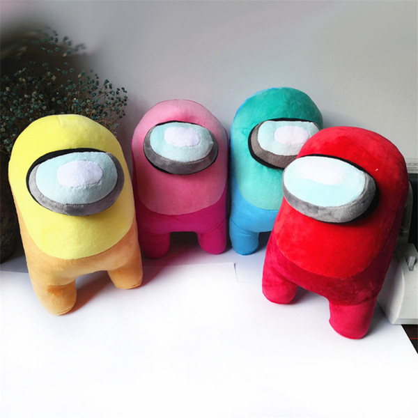 top popular 9Colors Soft Plush Among Us Hot Game Figure Anime Plushie Stuffed Cute Doll Toy Gift For Kids Boys and Girls Christmas 2021