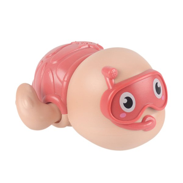 top popular Kids Cute Bath Toy Swim Wound-up Chain Animal Baby Clockwork Bathing Beach Toy for Family Outdoor Swimming Supply Q1217 2021
