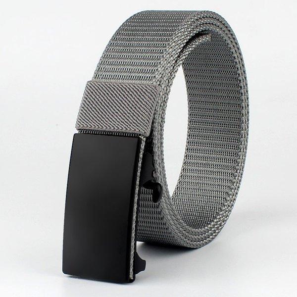 Black Button Silver Grey Belt