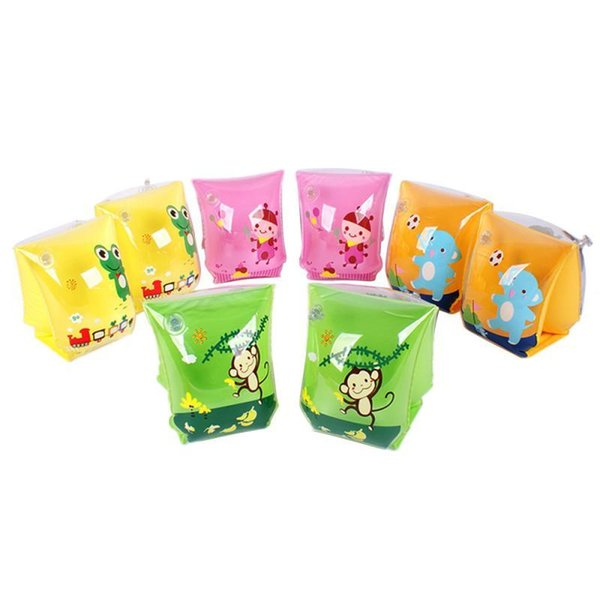 best selling Children Arm Floating Swim Ring Kids Cartoon Inflatable Armlets Circle Safety Life-Saving Kids Inflatable Swim Life Air Sleeves Q1217
