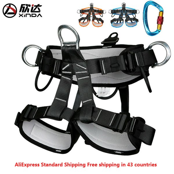 best selling XINDA Outdoor mountaineering half-legged leggings safety belt professional rescue rock climbing rescue aerial work climbing tree Q1118