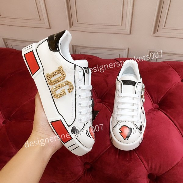 top new Mans arrival Casual Shoes White Black Red Fashion Mens Women Leather Breathable Shoes Open Low sports Sneakers hc191009
