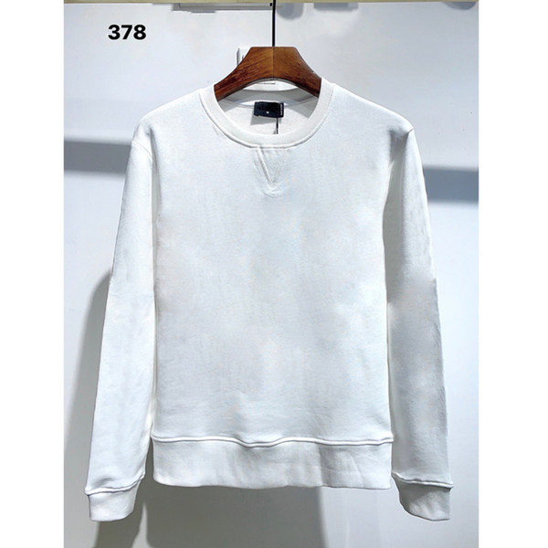 best selling Sweatshirt Men Street dance Skateboard Cotton classic embroidery Round neck Plus velvet fashion Hip hop pullover new styleQAL7a