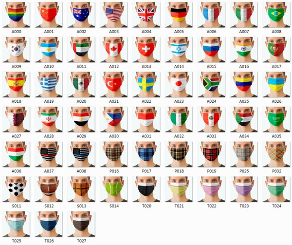 Flag Mask Mixed color