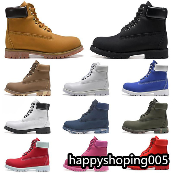 top popular Fashion men's boots fashion men's shoes women's shoes top quality ankle cowboy winter boots yellow red blue black pink mountaineering shoes 2021