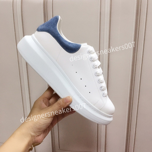2021THE new Women Shoes Men's Leather Lace Up Platform Oversized Sole Sneakers White Black Casual hc191001