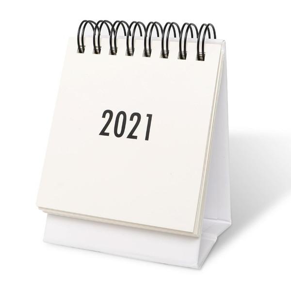 top popular Mini Desk Calendar 2021 Standing Flip Calendar 2021 Desk Wall Calendar for Planning Organizing Daily Scheduler Starts with Spiral Paper 2021