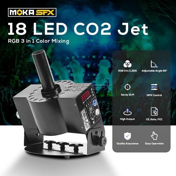 best selling MOKA LED Stage Cryo CO2 Smoke Jet Machine CO2 DMX 512 Switchable Effect CO2 Jet Cannon Machine with 6 Meters(20 feet) Hose LED Cryo Jets