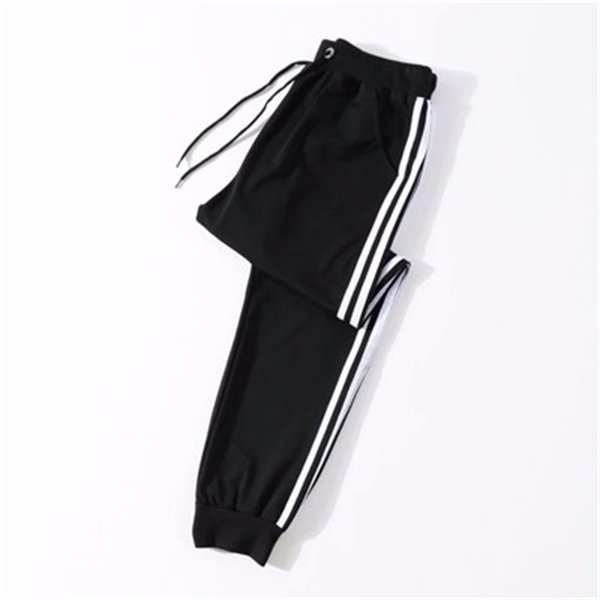 Thin Three Bar Harem Pants
