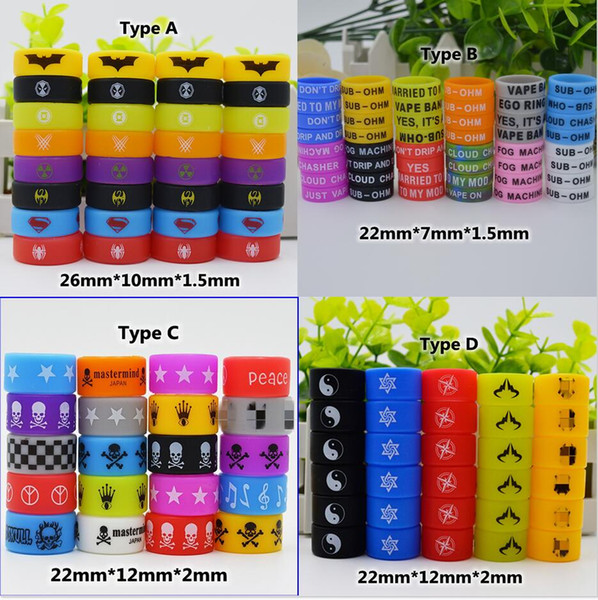 best selling Colorful Custom silicone vape band beauty rubber ring Personalized silicone bracelet Welcome OEM Print your name logo text for ecig tank