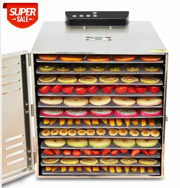 best selling 12 Layers Air Dryer Electric Dehydrator Fruit Dryer Stainless Steel Food Vegetable Meat Pet Drying Machine 220v 110V #5Z0F