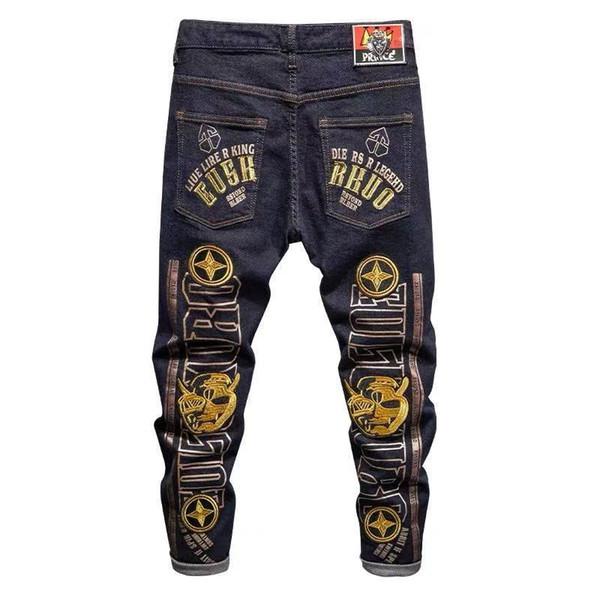 2021 Fashion Mens Stylist Jeans Mens High Quality Zipper Jeans Casual Trousers Mens Stylist Slim Biker Denim Pants Designer Jeans