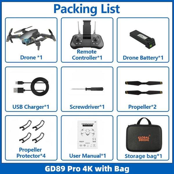 4K HD with bag