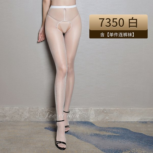 Bianco flash ultra sottile open chilkhose pantyhose