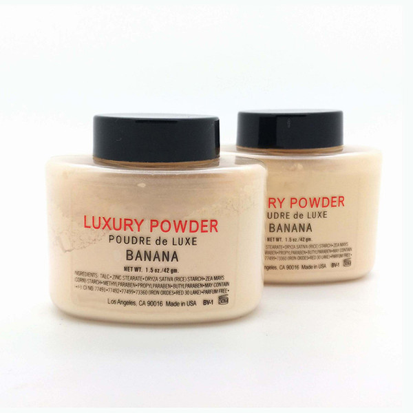 best selling DHL free Hot sale Luxury Powder 42g New Natural Face Loose Powder Waterproof Nutritious Banana Brighten Long-lasting