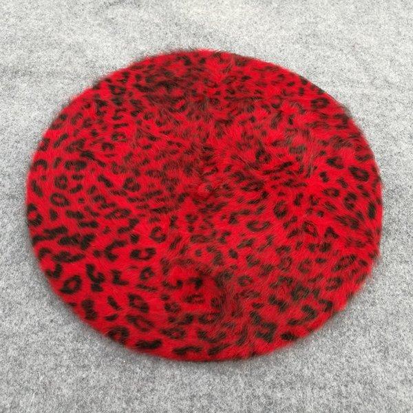 Punto de leopardo rojo