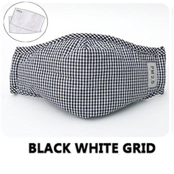 Schwarzes weißes Gitter