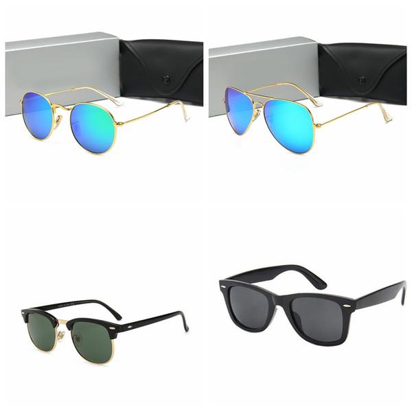 top popular Warehouse Hot Sale Brand Polarized Sunglasses Men Women Pilot Sunglasses UV400 Eyewear Classic Driver Glasses Metal Frame with Glass Lens 2021