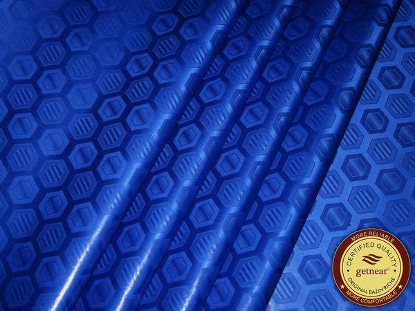 top popular High Quality Royal Blue Bazin Riche fabric,Germany Quality 10 Yards bag Guinea Brocade Garment Fabric 100% Cotton With Perfume Shadda 2021
