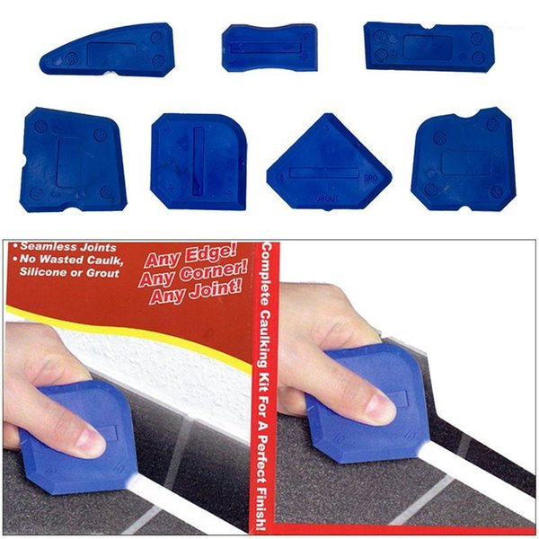 top popular 4 5 9pcs Window Door Silicone Glass Cement Scraper Tool Silicone Sealant Spreader Spatula Scraper Cement Removal Tool Kit NEW1 2021