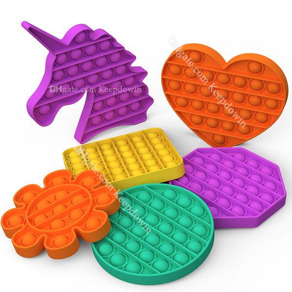 best selling Pop It Fidget Toy Sensory Push Pop Bubble Fidget Sensory Toy Autism Special Needs Anxiety Stress Reliever