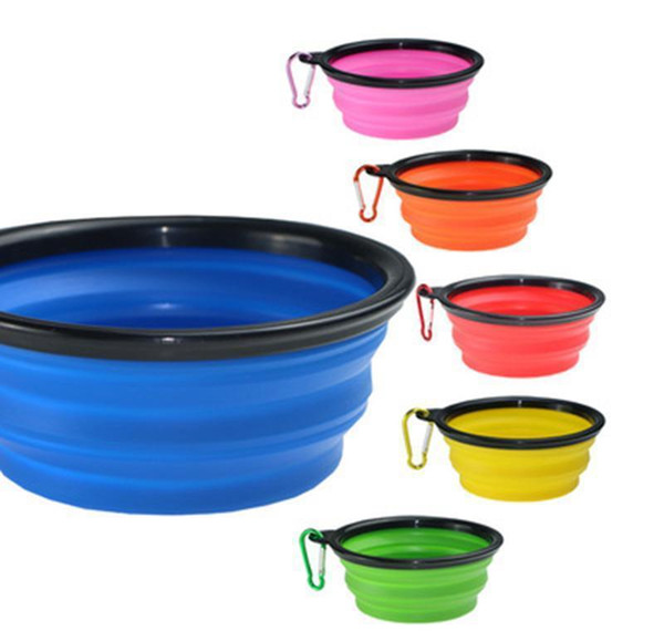 best selling Pet Dog Bowls Sile Puppy Collapsible Bowl Pet Feeding Bowls With Climbing Buckle Outdoor Travel Portable Dog Food bbyShD xmh_home