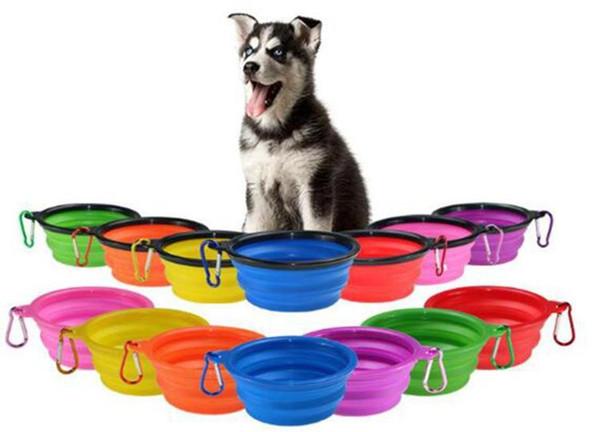 top popular Folding Puppy Bowl Travel Collapsible Sile Pet Dog Bowls Cat Feeding Bowl Water Dish Feeder Sile Foldab jllAOw lajiaoyard 2021