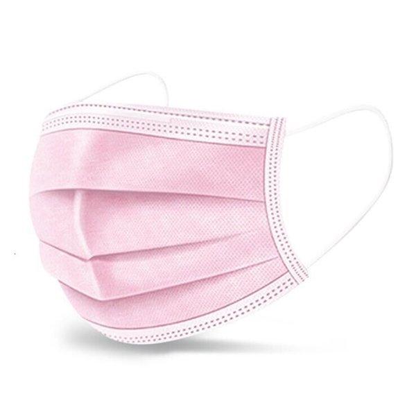 Máscaras rosa facial descartável