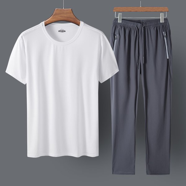 White Clothes And Grey Trousers