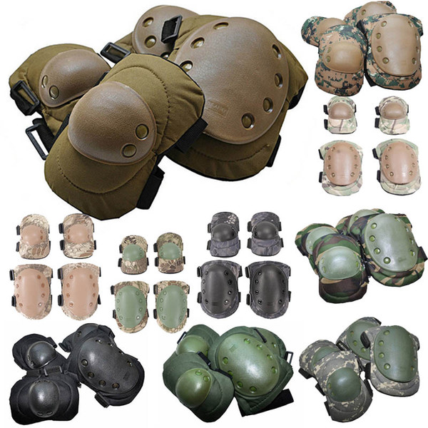 top popular Outdoor Sports Army Hunting Paintball Shooting Camo Gear Protective Airsoft Kneepads Tactical Elbow & Knee Pads NO13-001 2021