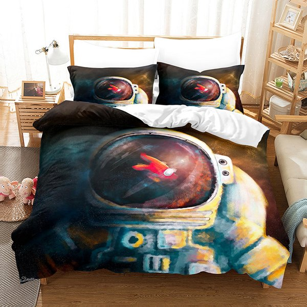 best selling Game Among Us Bedding Sets 3D Cartoon Digital Printing Three Quilt Cover Pillowcase Bedsheet Cover Suit Duvet Cover Bedding Sets E121005