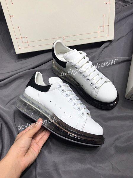 2021new Men Shoes Fashion Women Shoes Men's Leather Lace Up Platform Oversized Sole Sneakers White Black Casual Shoes gp190801