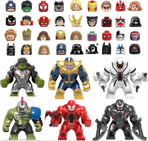 best selling 500 different figures blocks wholesale Batman Superman price is for Standard size 4.5cm blocks kids toy gift