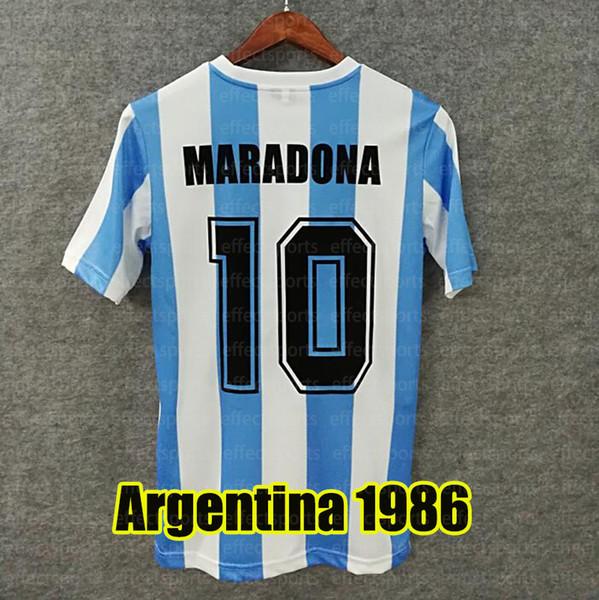 Argentina Retro 1986 Home 10 # Maradona