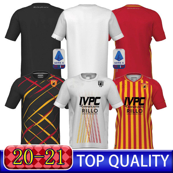 New Benevento Man Adult Thailand HOME Away Short sleeve High-quality 20 21 SOCCER JERSEYS