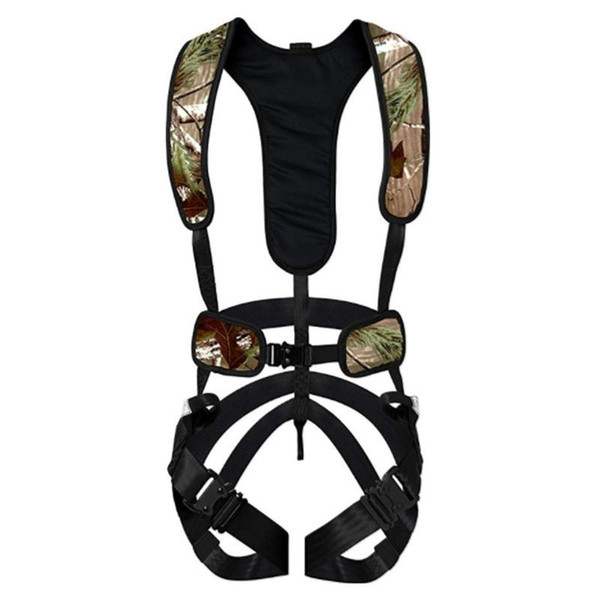 top popular Bowhunter Treestand Safety Harness Climbing High Working Camping Adventure Polyester Camouflage Safety Belt Q1118 2021