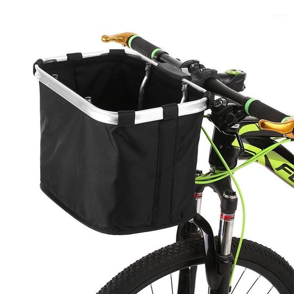 top popular Cycling Bags Bicycle Basket Handlebar Pannier Carryings Holder Bike Riding Pouch Cycle Biking Front Baggage Bag Bags1 2021
