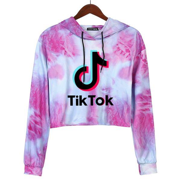 best selling Tiktok Sweatshirt for Women Girl Clothes Tik Tok Fall Winter Hooded Letter Hoodies Sport Sweater Clothing