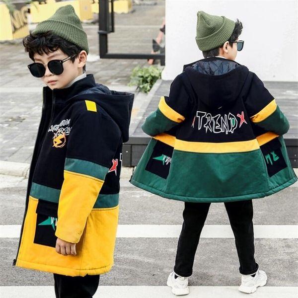 top popular Winter Hooded Jackets for Big Boys Girls Warm Winter Coat Kids Clothes Snowsuit Outerwear Children Windbreaker 6 9 10 12 14 16 Y Q1123 2020