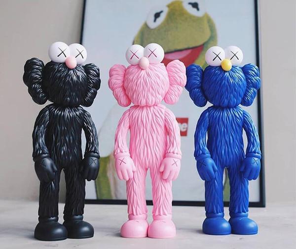 best selling New 35CM 0.6KG Originalfake KAWS standing Sesame Street Companion Original Box trend KAWS Action Figure model decorations toys gift