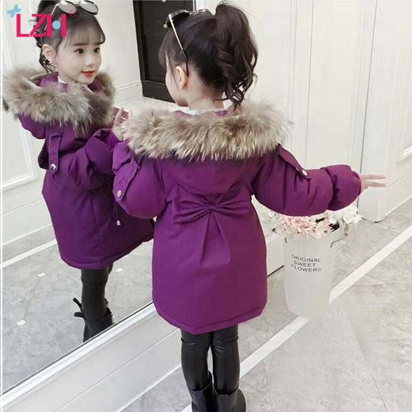 top popular LZH 2020 Winter Fashion Hooded Cotton Outerwear Coats For Girls Jacket Kids Thick Warm Coat Children Clothes Jacket 4-12 Year Q1123 2020