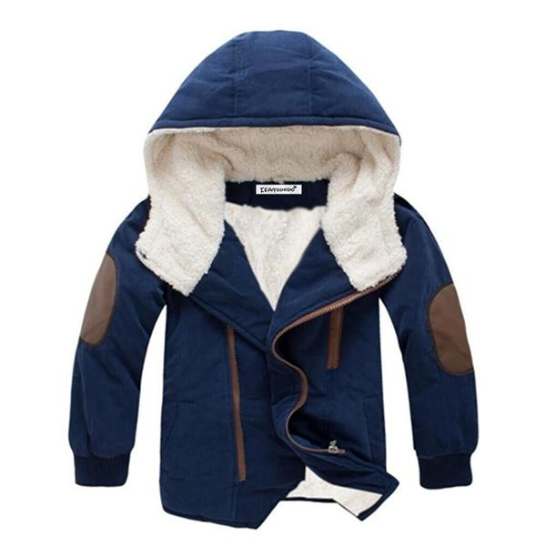 top popular Kids coat 2020 Autumn Winter Boys Jacket for Boys Children Clothing Hooded Outerwear Baby Boy Clothes 4 5 6 7 8 9 10 11 12 Year Q1123 2020